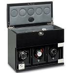 Underwood Rotobox Triple-Module Watch Winder | Extra Watch Storage