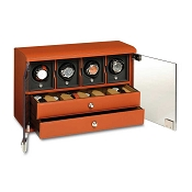Underwood Rotobox Four-Module Watch Winder with Watch Storage Trays
