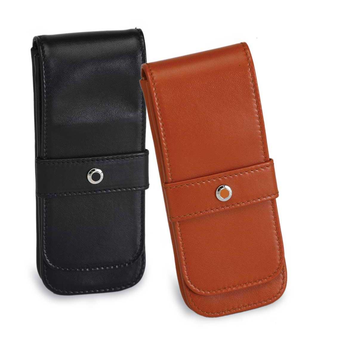Underwood Italian Leather 3 Pen Pouch Case