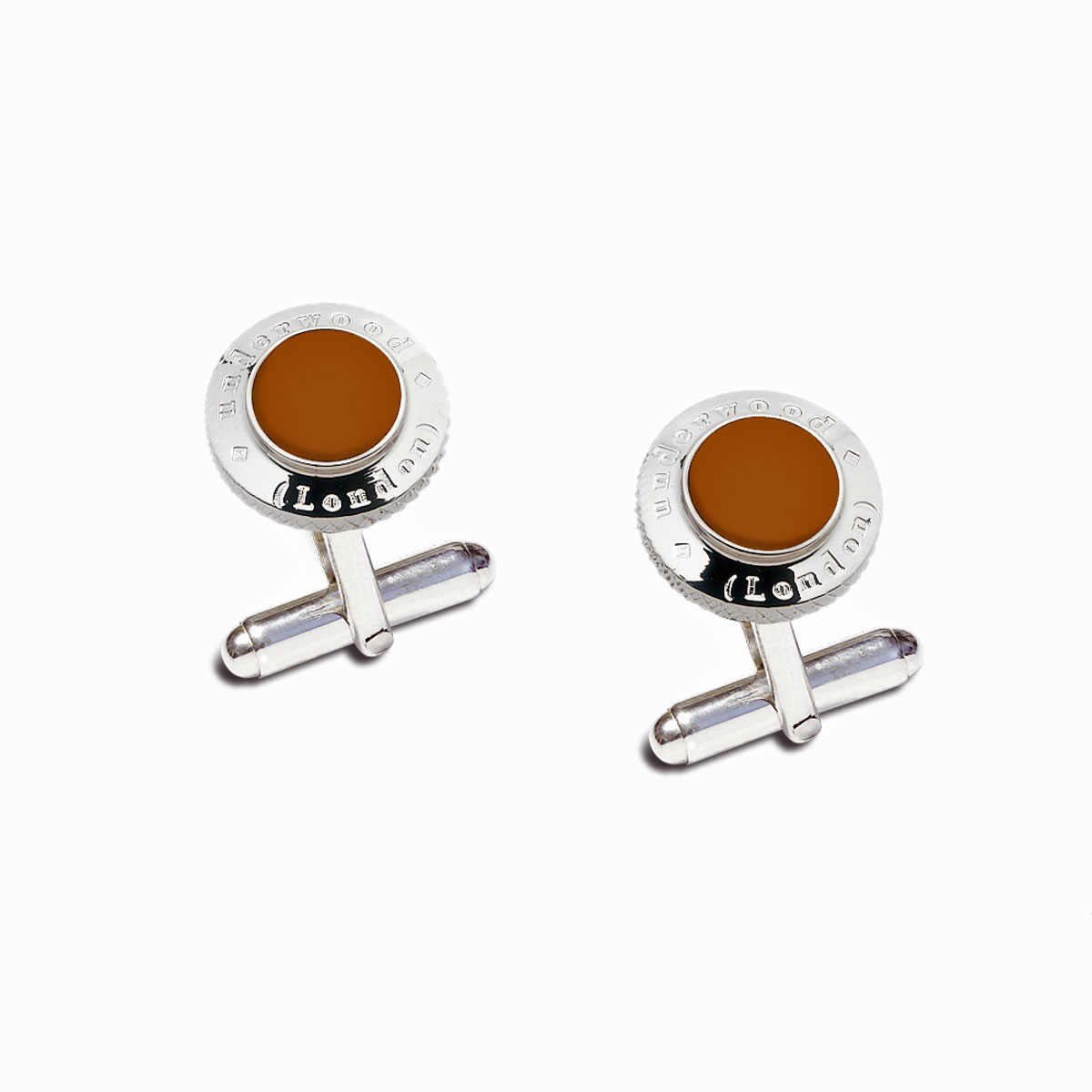 Underwood Round Logo Motif Cuff Links