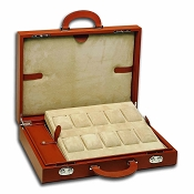 Underwood Leather Attache Case for 10 Large Watches