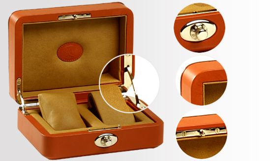 Underwood 2 Watch Collectors Leather Case