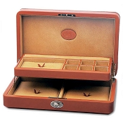 Underwood Collectors Leather Jewelry Case with Tray