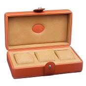 Underwood 3 Watch Leather Storage Box