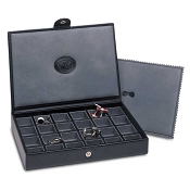 Underwood Leather Cufflink Box - 24 Set Storage Case