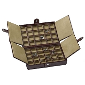 Underwood Leather Cufflink Box - 48 Set Storage Case