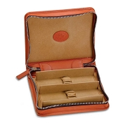 Underwood Leather Zipped Watch Case for 2 Watches