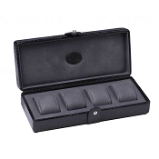 Underwood Submariner Leather Watch Storage Box for 4 Large Watches