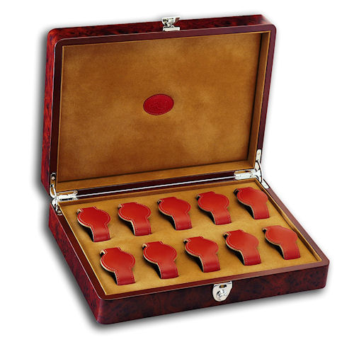 Underwood Briarwood Wooden 10 Watch Storage Box