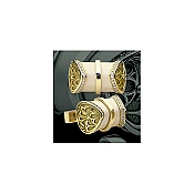 Yozu Mammoth Ivory & Two Rows Diamonds Cufflinks