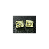Yozu 18K Yellow Gold Owl Cufflinks