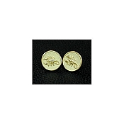 Yozu 18K Yellow Gold Zodiac Signs: Scorpion Cufflinks