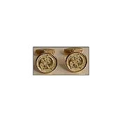 Yozu 18K Yellow Gold Zodiac Signs: Pisces Cufflinks