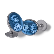Zannetti Dalmation Cameo Cufflinks - 18k White Gold