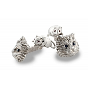 Zannetti Cat and Mice Cufflinks