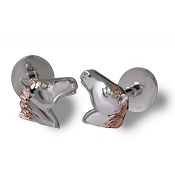 Zannetti Horse Cufflinks -18kt White Gold - Limited Edition