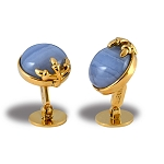 Zannetti Gold Eagle Claw Cufflinks - 18k Gold & Chalcedony