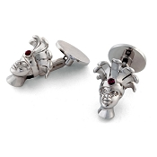 Zannetti African Child Cufflinks with Palm & Ruby - Limited Edition