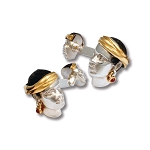 Zannetti African Man Cufflinks with Head Scarf & Earrings