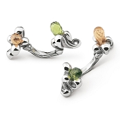 Zannetti Flowers Cufflinks - Sterling Silver - Limited Edition