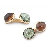 Zannetti Tourmaline Ovals Cufflinks - Limited Edition