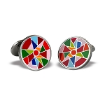 Zannetti Multi-Color Harlequin Cufflinks