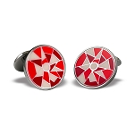 Zannetti Red Harlequin Cufflinks