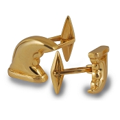 Zannetti Horns Cufflinks - 18k Gold