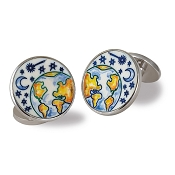 Zannetti Full Sky Cufflinks - Sterling Silver & Bone