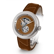 Zannetti Discobolo Men's Watch – Brown Enamel Dial & Stainless Steel Case