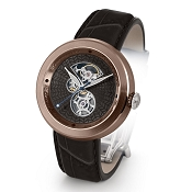 Zannetti Discobolo Men's Watch – Black Enamel Dial & Bronze Case