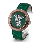 Zannetti Discobolo Men's Watch – Green Enamel Dial & Bronze Case