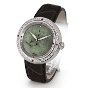 Zannetti Discobolo Men's Watch – Green Jade Dial - Diamonds - Stainless Steel