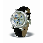 Zannetti Impero Gladiator 18k White Gold Chrono Watch