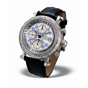 Zannetti Impero Gladiator Engraved White Gold Palladium Chrono Watch