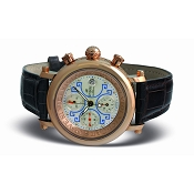 Zannetti Impero Gladiator 18k Gold Chrono Watch