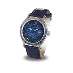 Zannetti Regent Full Sky Mk II Watch - Blue Night - White & Yellow Diamonds