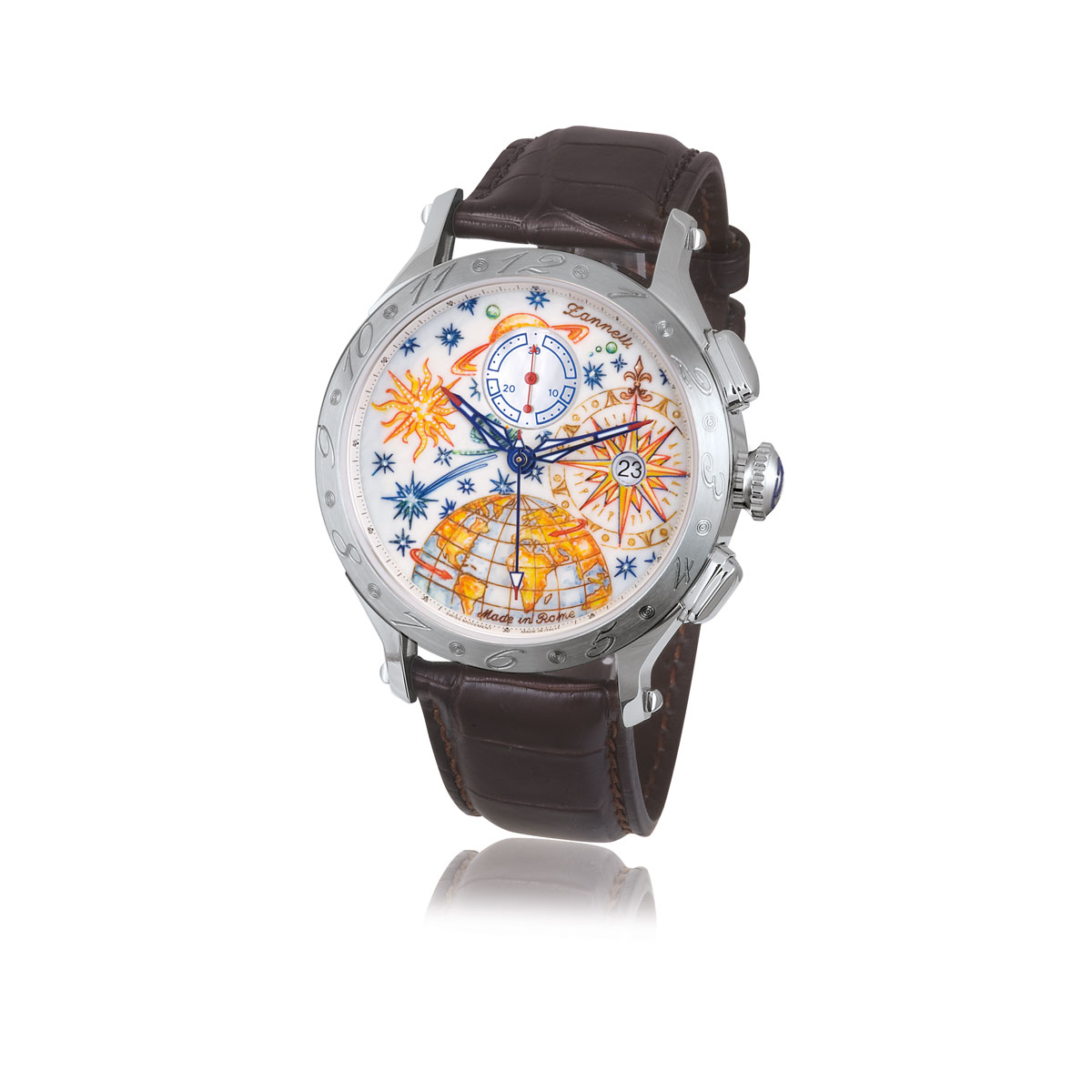 Zannetti Regent Full Sky Mk II Chrono Watch - Stainless Steel