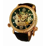 Zannetti Repeater Cornucopia Yellow Gold Watch - Skeleton Black  Dial