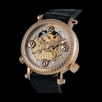 Zannetti Repeater Cornucopia Yellow Gold Watch - Skeleton White Dial