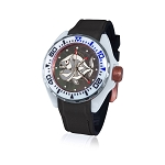 Zannetti Scuba Art Piranha High Tech Ceramics MOP Grey Dial Dive Watch