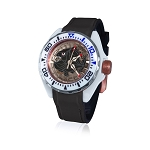 Zannetti Scuba Art Piranha High Tech Ceramics Dive Watch - Black Skeleton Dial