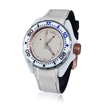 Zannetti Scuba Art Piranha High Tech Ceramics White Dial Dive Watch