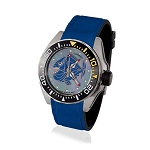 Zannetti Scuba Art Piranha MOP Dive Watch - Blue Dial - Automatic