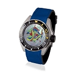 Zannetti Scuba Art Piranha MOP Dive Watch - Harlequin Edition - Automatic