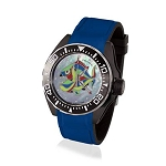 Zannetti Scuba Art Piranha MOP & Black PVD Dive Watch - Harlequin Edition - Automatic