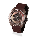 Zannetti Scuba Art Piranha MOP & Brown PVD Dive Watch - Brown Dial - Automatic