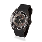 Zannetti Scuba Art Piranha Dive Watch - Black Skeleton Dial & Black PVD