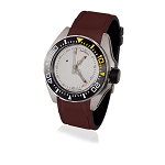 Zannetti Piranha Scuba Art Dive Watch - White Dial - Stainless Steel