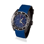 Zannetti Scuba Art Piranha Dive Watch - Blue Dial - Stainless Steel Black PVD